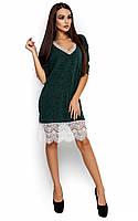 Вільне вечірнє темно-зелене плаття з гіпюром Nizza (S-M, M-L)