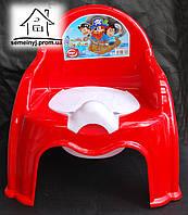 Горшок-стульчик детский с крышкой С046 (красный)