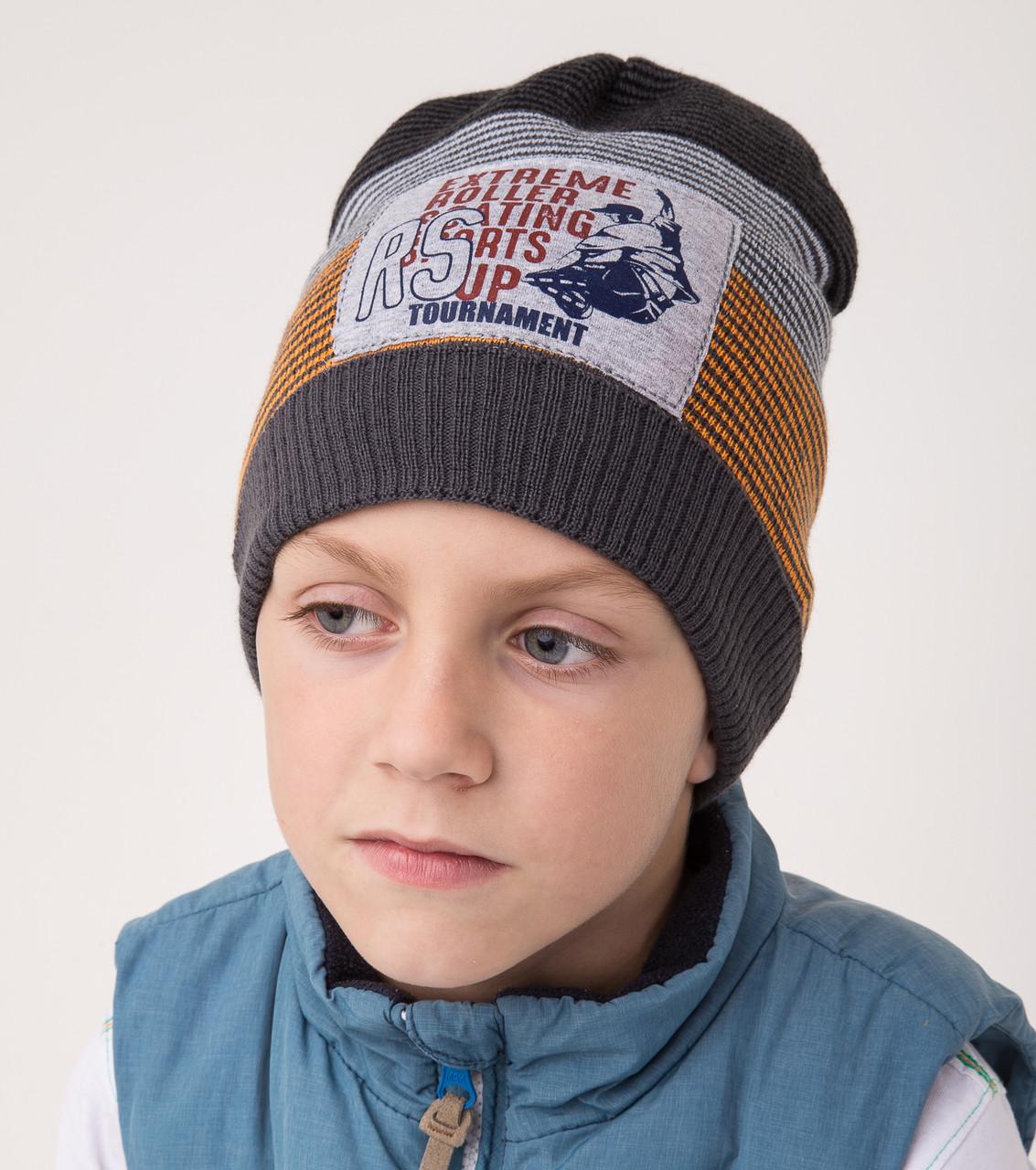 Вязанная шапка для мальчика на осень 2018 оптом - Extreme Roller - Артикул 2128