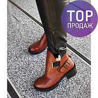 Женские низкие ботинки Diezzzl, цвет шоколад / полусапоги женские кожаные, с ремешком, модные