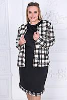 Комплект платье с кардиганом   (48-52)