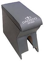 Подлокотник Daewoo Nexia (Деу Нексиа) серый с вышивкой