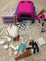 Набор для покрытия и наращивания ногтей гель лаком 725 +подарок