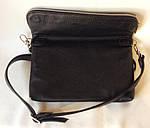 Кожаная сумка VS11  blak 25х17х3 см, фото 5