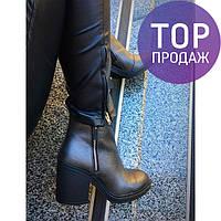 Женские низкие ботинки на каблуке 9 см, цвета сталь / полусапоги женские кожаные, с молнией, удобные, модные