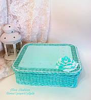 Шкатулка для украшений плетеная, фото 1