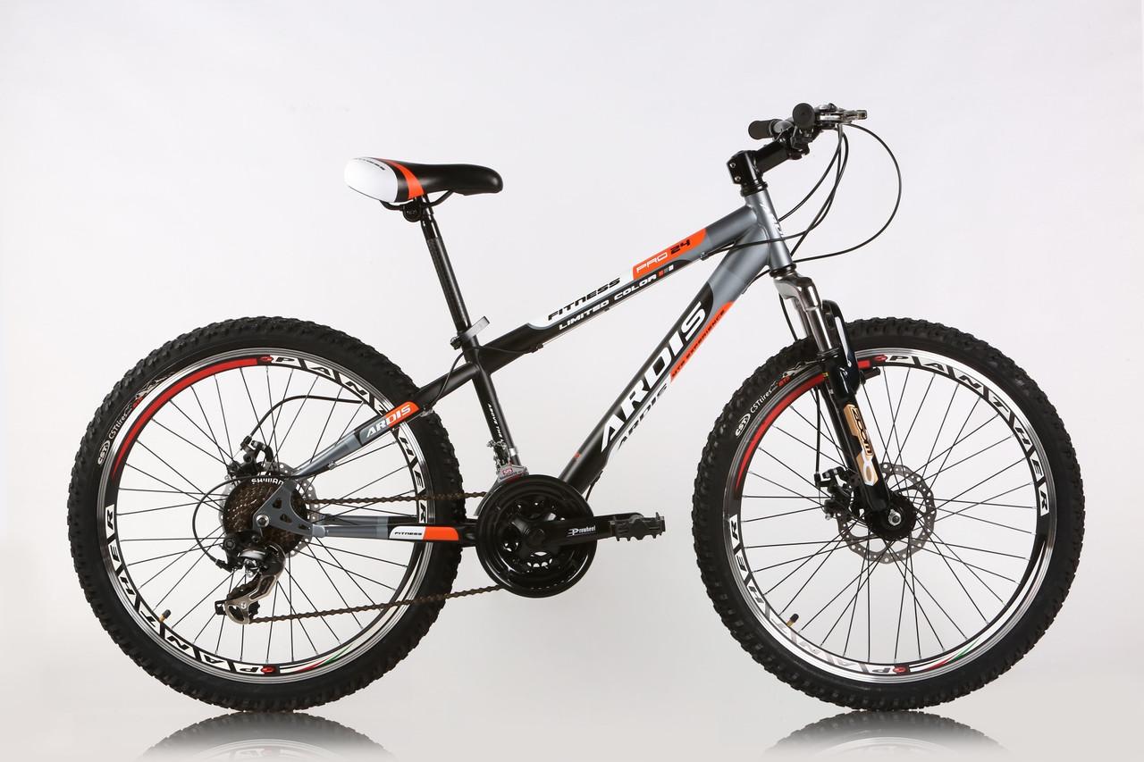 """Подростковый велосипед ARDIS FITNESS MTB 24""""  Черный/Оранжевый"""