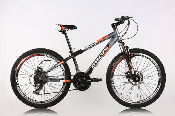 """Подростковый велосипед ARDIS FITNESS MTB 24"""", 13""""  Черный/Оранжевый"""