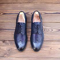 Итальянские мужские кожаные туфли броги 43 размер