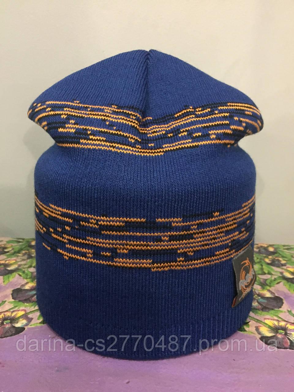 Вязанная шапка для мальчика подростка