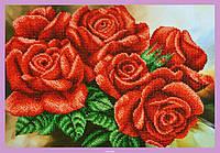 """Набор для вышивания бисером Р-295 """"Красные розы"""""""