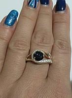 Кольцо из серебра 925 с золотом 375 и авантюрином Визит