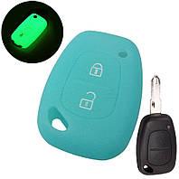Силиконовый чехол на корпус ключа Renault Master II  1998->2010 - DSP (Китай)— PGNGBLUE