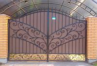 """Кованые ворота и калитка """" Люкс """""""