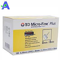 Голки інсулінові 8 мм БД Микрофайн Плюс до шприц ручок