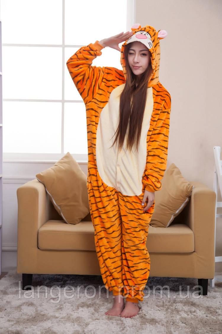 Кигуруми тигр на рост 140-150 kigurumi костюм S тигра пижама -  Интернет-магазин dc2535a67cd19