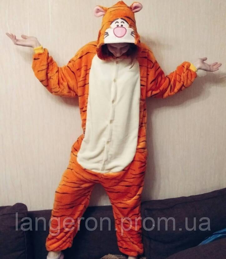 Кигуруми тигр на рост 170-180 kigurumi костюм XL тигра пижама  продажа 72682a0f45bf9