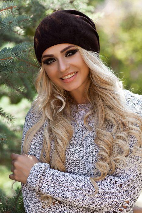 Женская зимняя шапка-колпак «Хэлхейм» Коричневый