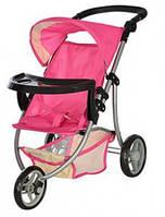 Детская коляска прогулочная для куклы Melogo Мелого 9377 B-T, розовая