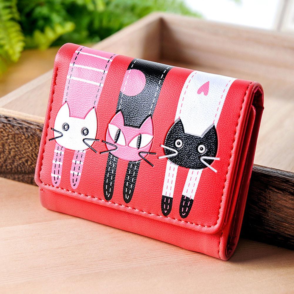 Женский кошелек  Little Cats Red