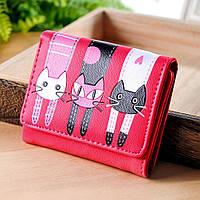 Женский кошелек  Little Cats Pink