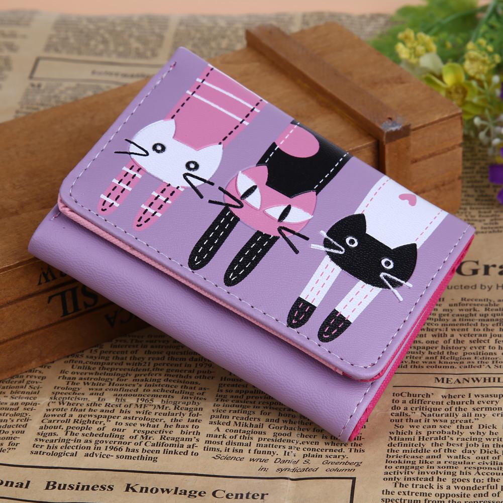 Женский кошелек  Little Cats Violet