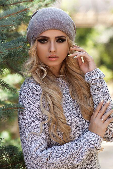 Женская зимняя шапка-колпак «Хэлхейм» Темный кофе