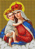 "Схема для вышивки бисером икона ""Мадонна с младенцем"" (40х60)"