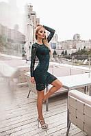 Обворожительное коктейльное гипюровое платье