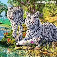 Алмазная вышивка Белые Тигры