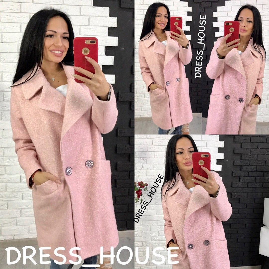 2fb05091ff3 Женское пальто оверсайз из шерсти букле в расцветках 5PABR -  Интернет-магазин Tvid в Харькове