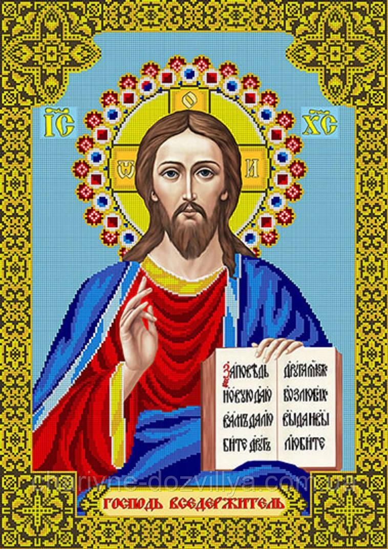 """Схема для вышивки бисером икона """"Иисус Христос"""" (40х60)"""