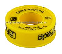 Фум лента FADO жёлтая для газа 12 мм*0,1 мм*12 м