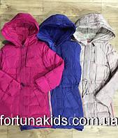 Куртки зимние на меху для девочек GRACE 8-16 лет