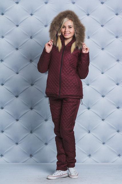 a03318304e4 Зимний женский костюм с мехом - Интернет магазин одежды Модна Лавка в  Кременчуге
