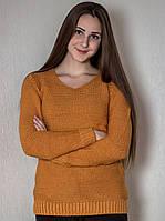 Свитер женский № 1568 р.44-48 горчица