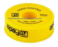 Фум лента FADO жёлтая для газа 19 мм*0,25 мм*15 м
