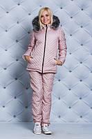 Зимний женский костюм с мехом