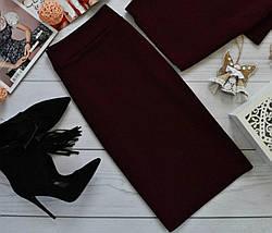 Классическая юбка-футляр в базовых расцветках Красный, фото 2