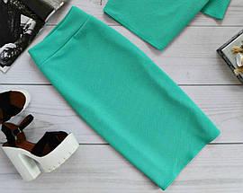 Классическая юбка-футляр в базовых расцветках Красный, фото 3