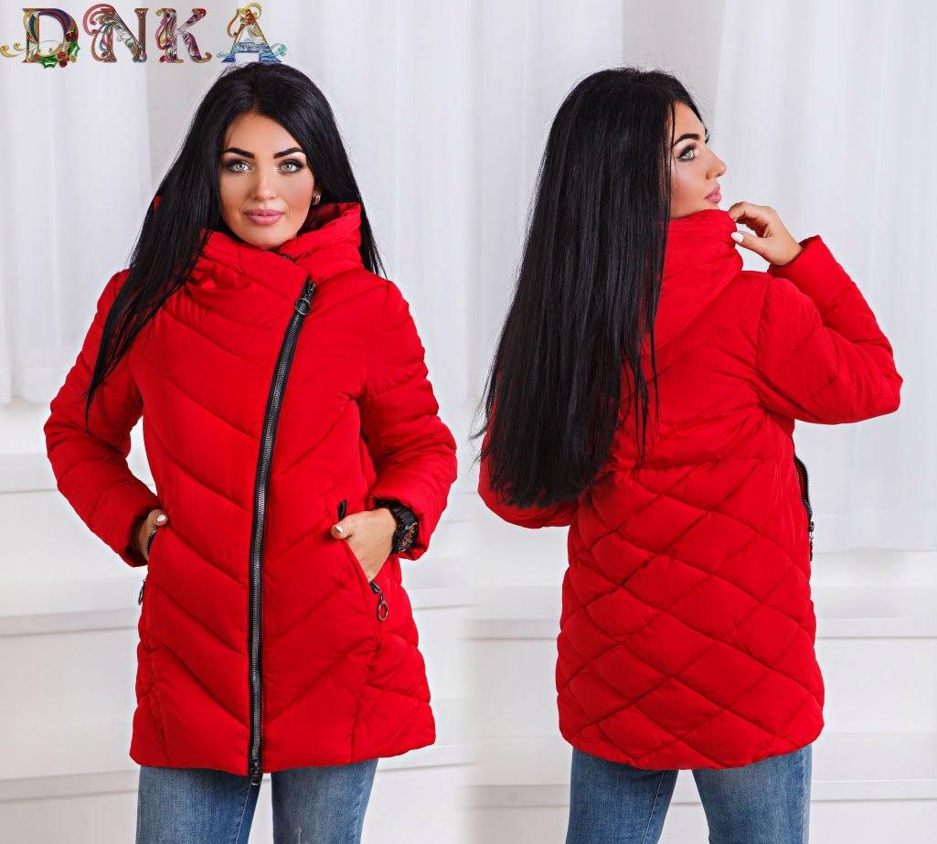 9b97933d Теплая зимняя куртка женская большого размера с 50-го до 60-го, фото