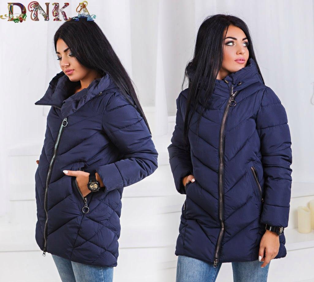 eca80182 Теплая зимняя куртка женская большого размера с 50-го до 60-го, цена ...