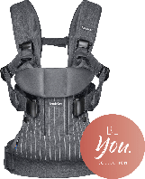 Эргономичный Рюкзак-кенгуру BabyBjorn ONE, цвет Belts - Gray