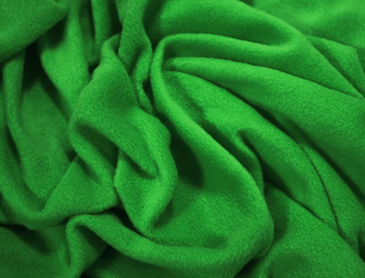 Ткань флис зеленый