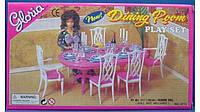"""Мебель """"Gloria"""" для гостинной, стол, 6 стульев, посуда, свечи, в кор. 44*23*9см ()"""