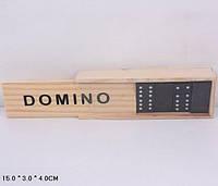 Домино в деревянном футляре 15*3*4см (Домино B15623 (300шт) в)