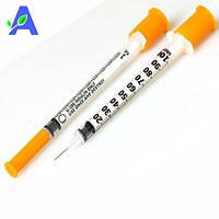 Шприц инсулиновый 1 мл БД Микрофайн Плюс U-100 с иглой 12,7 мм 10 штук в упаковке