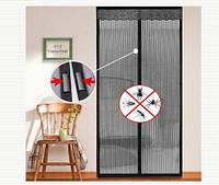 Антимоскитные магнитные шторы magic mesh 210х100см, антимоскитная сетка на магнитах, фото 1