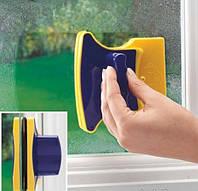 Магнитная щетка для мытья окон с двух сторон одновременно Glass Wiper, фото 1