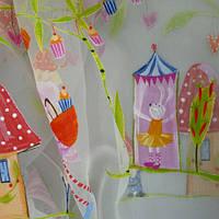 Тюль в детскую розовый испания